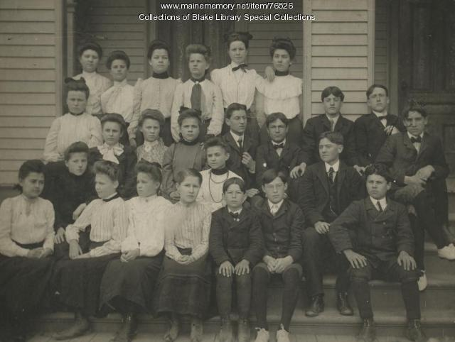Madawaska Training School Model School students, Fort Kent, 1909