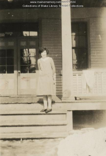 Angeline Morneault, Madawaska Training School math teacher, Fort Kent, 1928