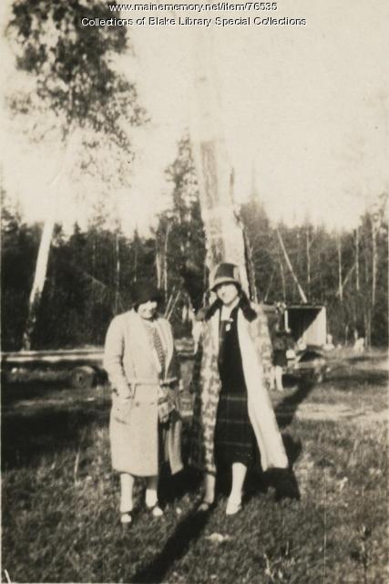 Matilda M. Crocker and Sarah H.E. Doone, Fort Kent, ca. 1928