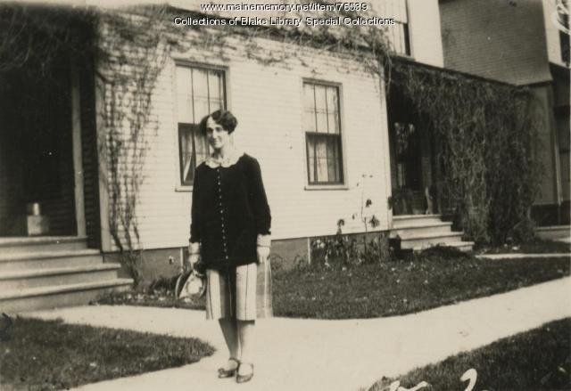 Helen Hance, Madawaska Training School faculty, Fort Kent, 1928