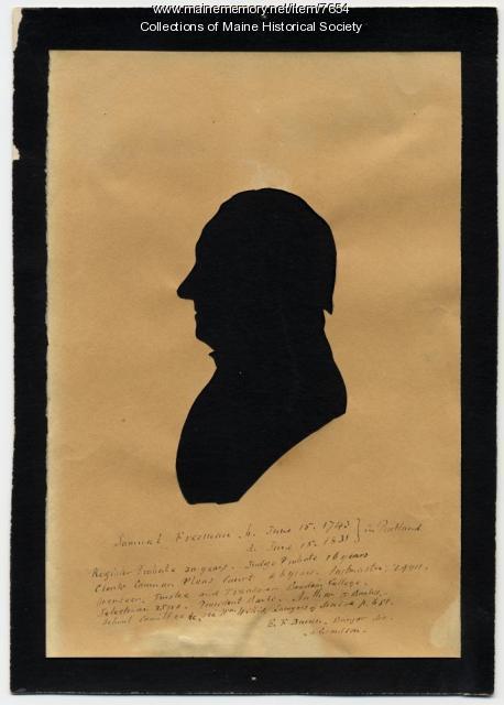 Silhouette of Samuel Freeman (1743-1831)