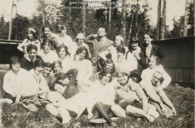 Madawaska Training School class picnic, Fort Kent, 1929
