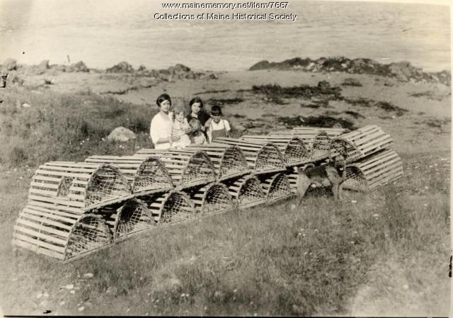 Lobster traps and women, 1937