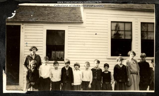 Children and teachers, Cumberland County, ca. 1925