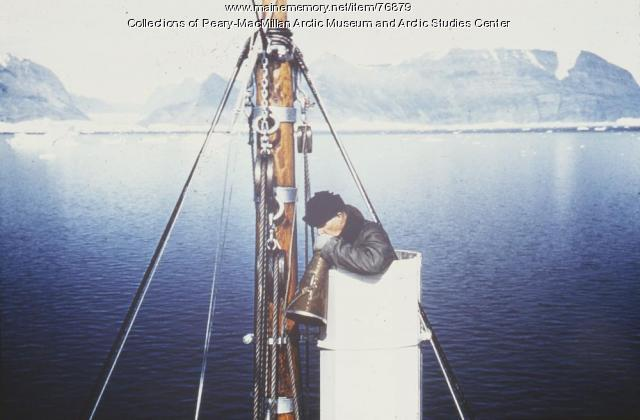 MacMillan navigating from 'ice bucket,' 1940