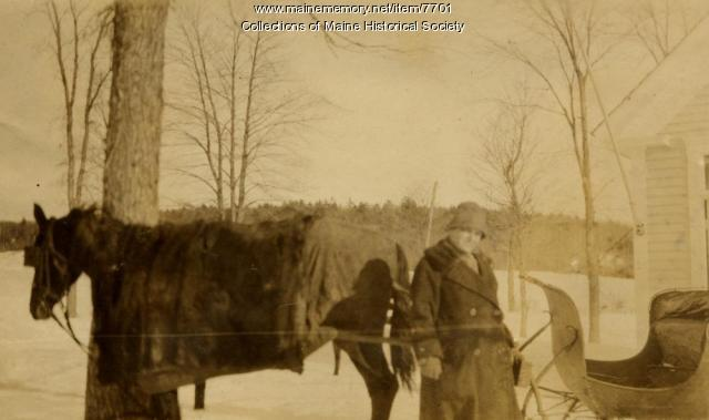 Windham horse and man, 1926