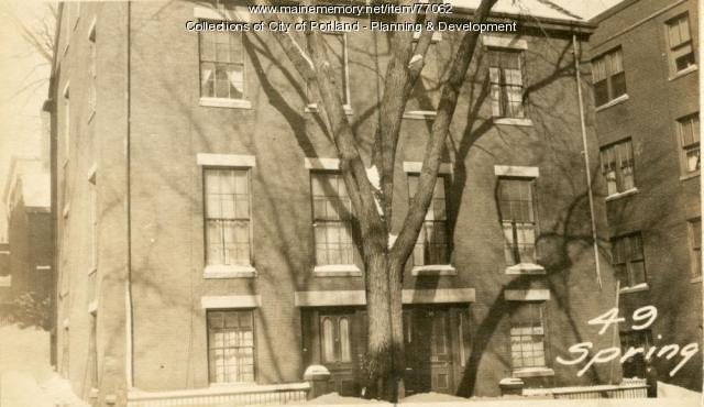 51 Spring Street, Portland, 1924