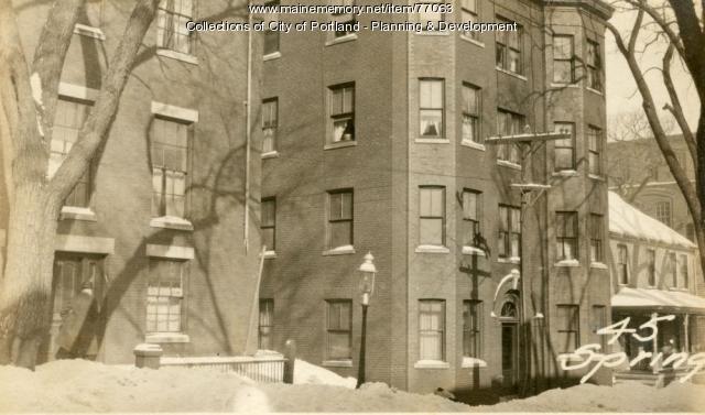 45 Spring Street, Portland, 1924