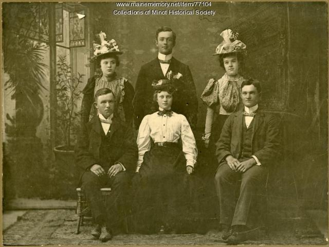 Cobb family, Minot, ca. 1895