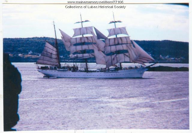 The USCGC Eagle, Cobscook Bay, 1975