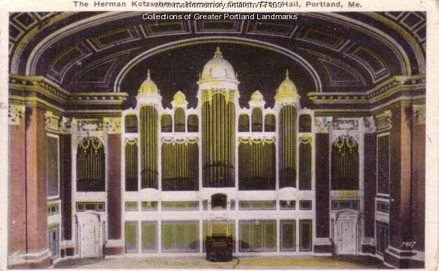 Hermann Kotzschmar Memorial Organ, ca. 1931