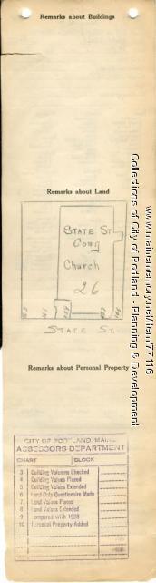 Assessor's Record, 155-163 State Street, Portland, 1924