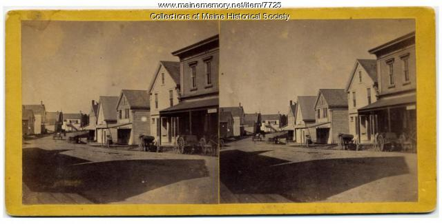 Stereoview of Bucksport, ca. 1860