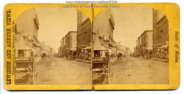 Lisbon Street, Lewiston, Me. c. 1900