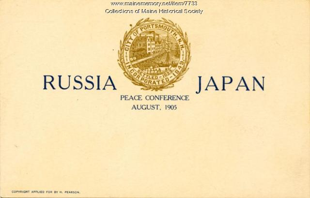 Russia Japan Peace Conference, 1905