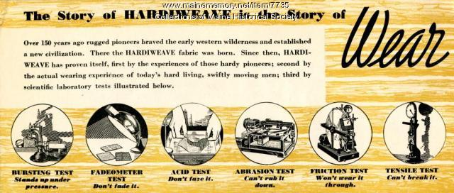 Story of Wear Hardiweave advertising brochure