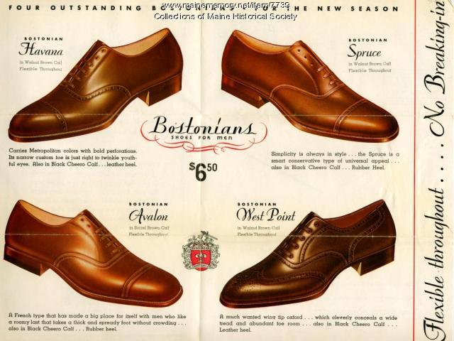 Bostonian shoes advertising brochure