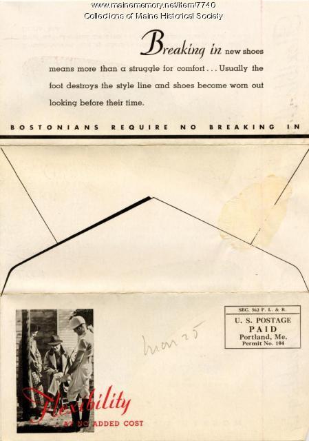Bostonian shoe advertising card