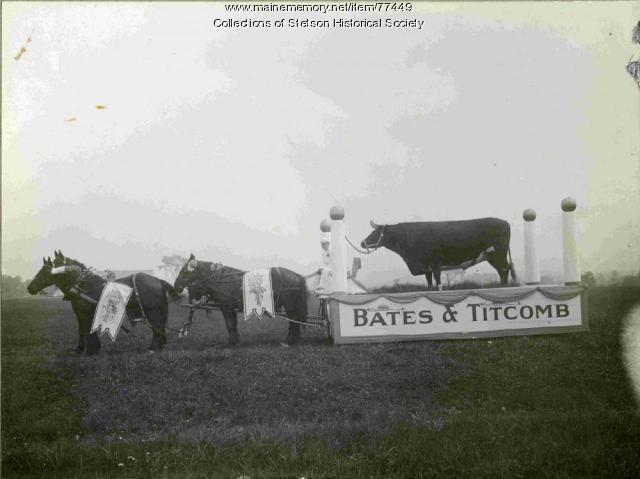 Mt. Katahdin on float, Corinna, 1916