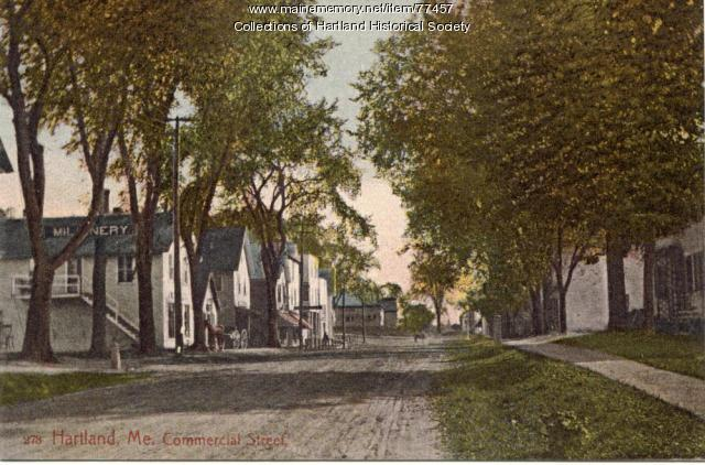 Commercial St. looking towards Warren Square, Hartland, ca. 1890