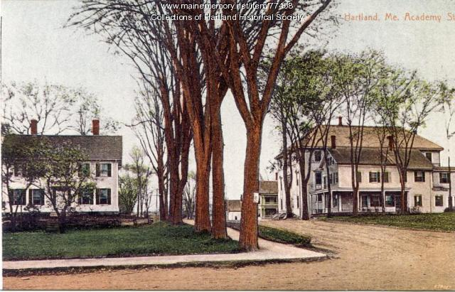 Corner of Commercial and Academy Streets, Hartland, 1890