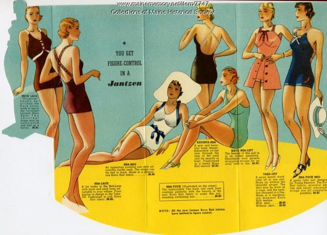 Jantzen bathing suits advertising brochure, ca. 1940
