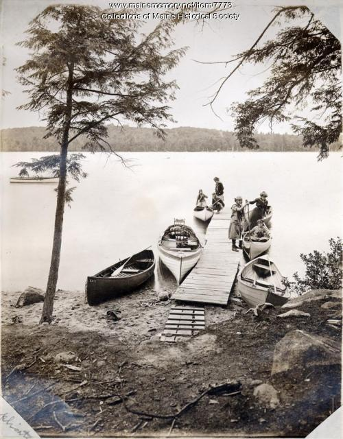 Girls Camp, Great Lake, Belgrade, ca. 1910