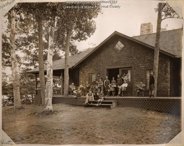 The Dormitory, Pine Point Camp, Great Lake, Belgrade, ca. 1910