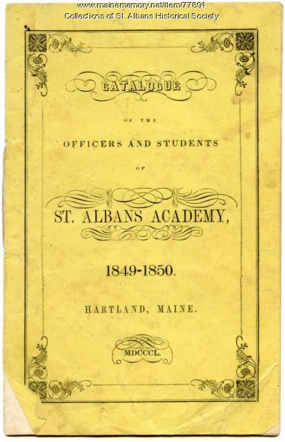 St. Albans Academy Catalogue, 1849