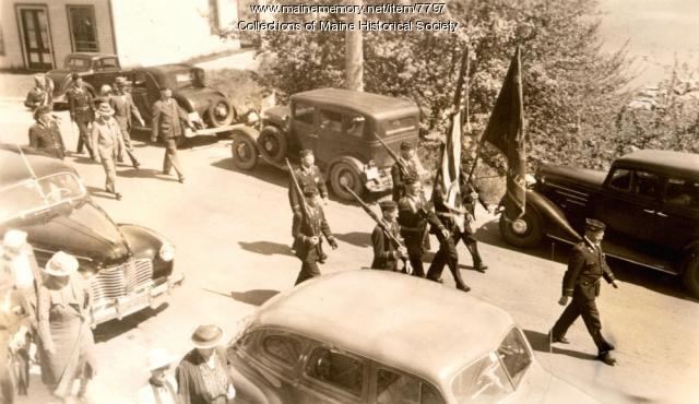 Memorial Day Parade, Deer Isle, ca. 1940