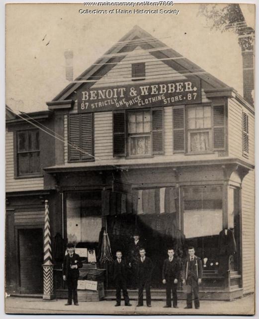 Benoit and Webber, Westbrook, ca. 1890