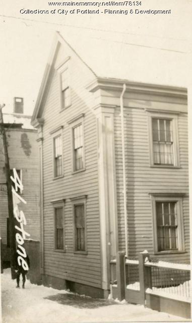 41 Stone Street, Portland, 1924