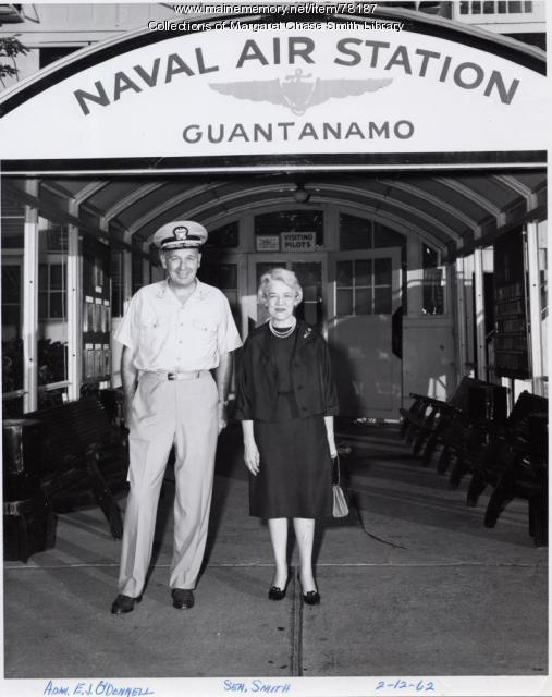 Senator Smith at Guantanamo Naval Air Station, Cuba, 1962
