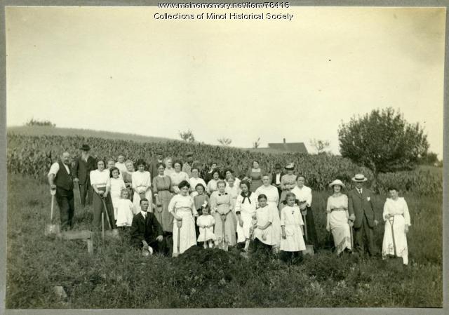 Minot Center Grange ground breaking, 1886