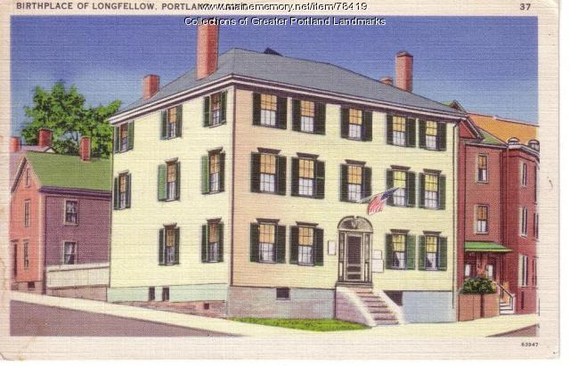 Henry Wadsworth Longfellow birthplace, Portland, ca. 1900