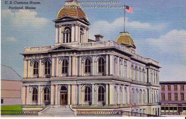 U.S Customs House, Portland, ca. 1900