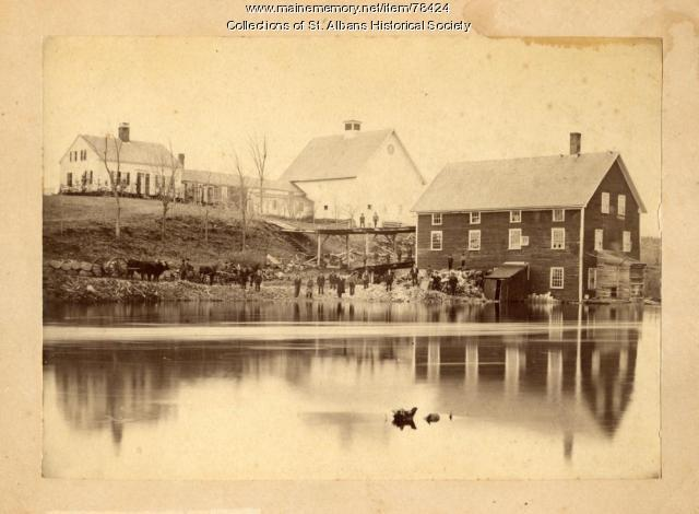 Turner Homestead and Mill, St. Albans, 1878