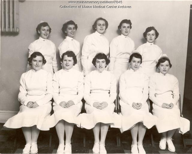 MGH School of Nursing, Portland, Class of 1954