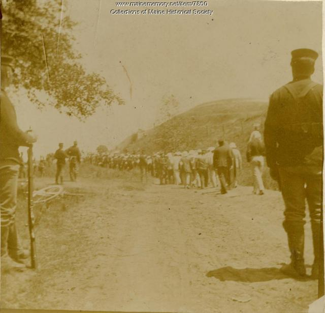Spanish prisoners of war on Seavey's Island, 1898