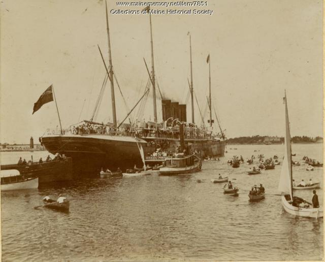 Arrival of Spanish prisoners of war, 1898