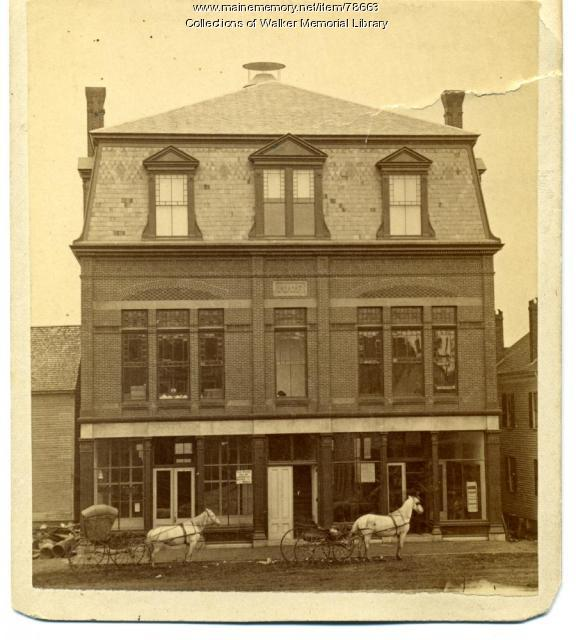 Odd Fellows Hall, Westbrook, 1883