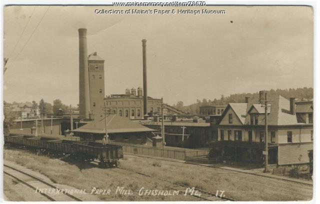 Otis Falls Pulp & Paper Mill, Livermore Falls, ca. 1896