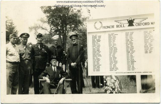 Veterans, Oxford, ca. 1943