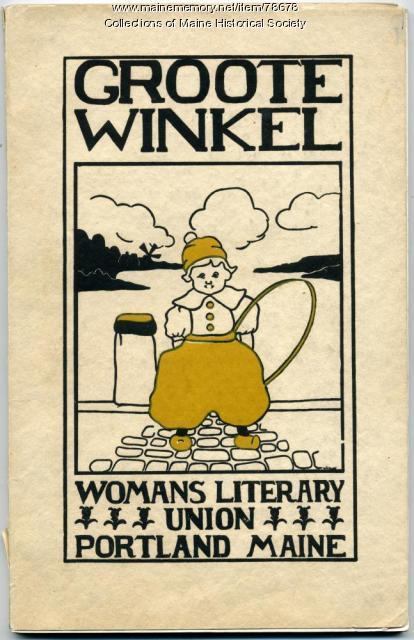 WLU fundraiser souvenir book cover, Portland, 1915