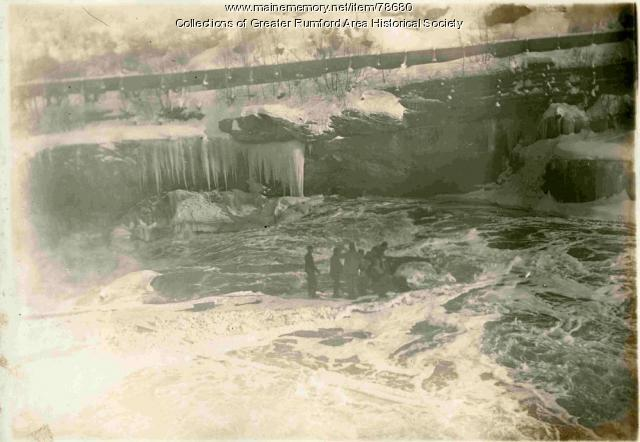 SEE NOTE Dam Construction at Rumford Falls, ca 1895
