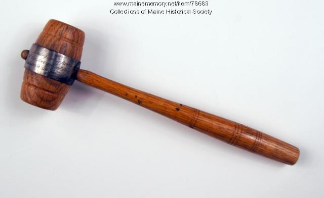 Woman's Literary Union gavel, Portland, 1903