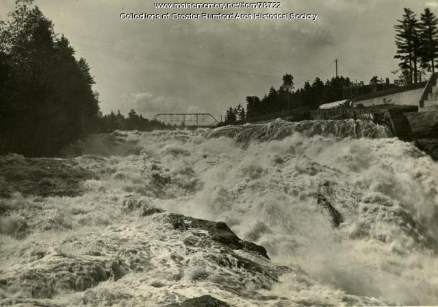 Rumford Falls Looking South, 1916