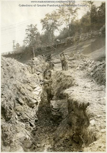 Excavating the water district, Rumford, 1892