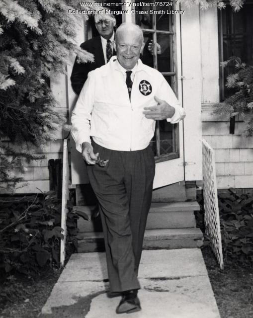 President Eisenhower at Parmachenee Lake, Rangeley Region, 1955