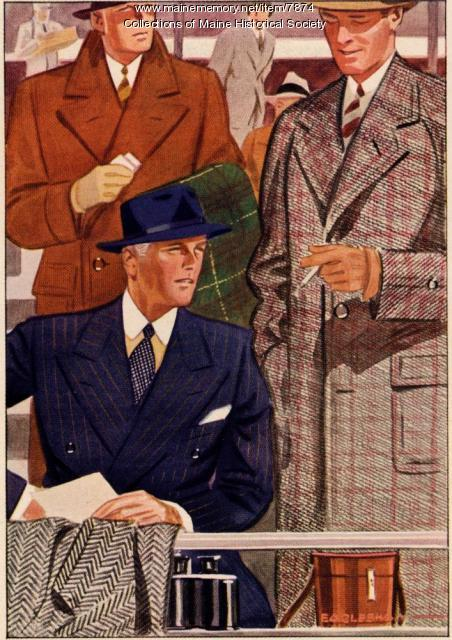 Hickey-Freeman suits advertising brochure, ca. 1930